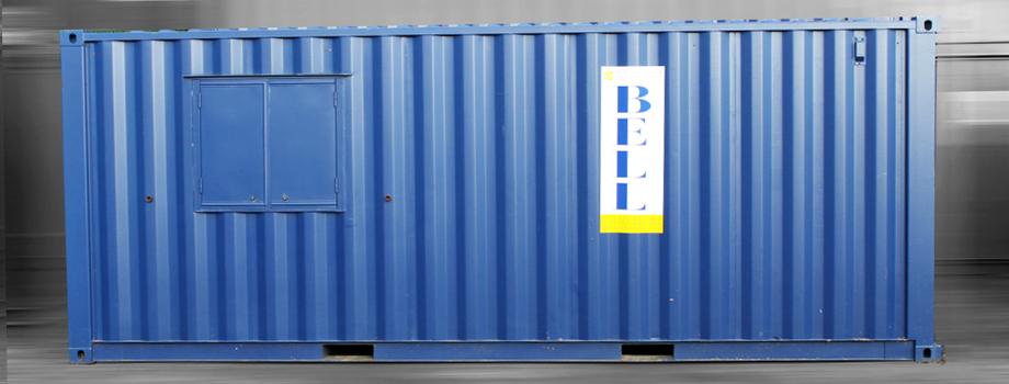 popup container shop unit - blue 20ft