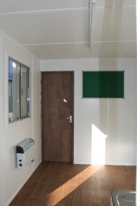 interior image of container office conversion