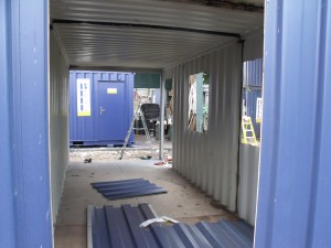 image of container modification project