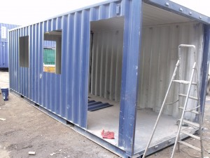 Work in progress - 20ft container conversion - mobile serving unit