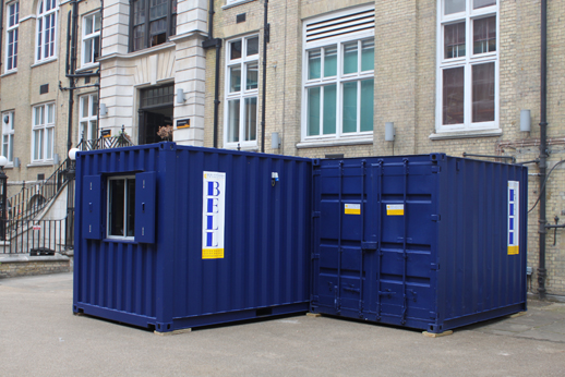 popup shipping containers London