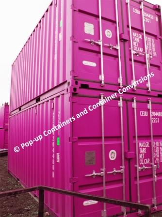 new 20ft shipping containers - painted (popup storage units)