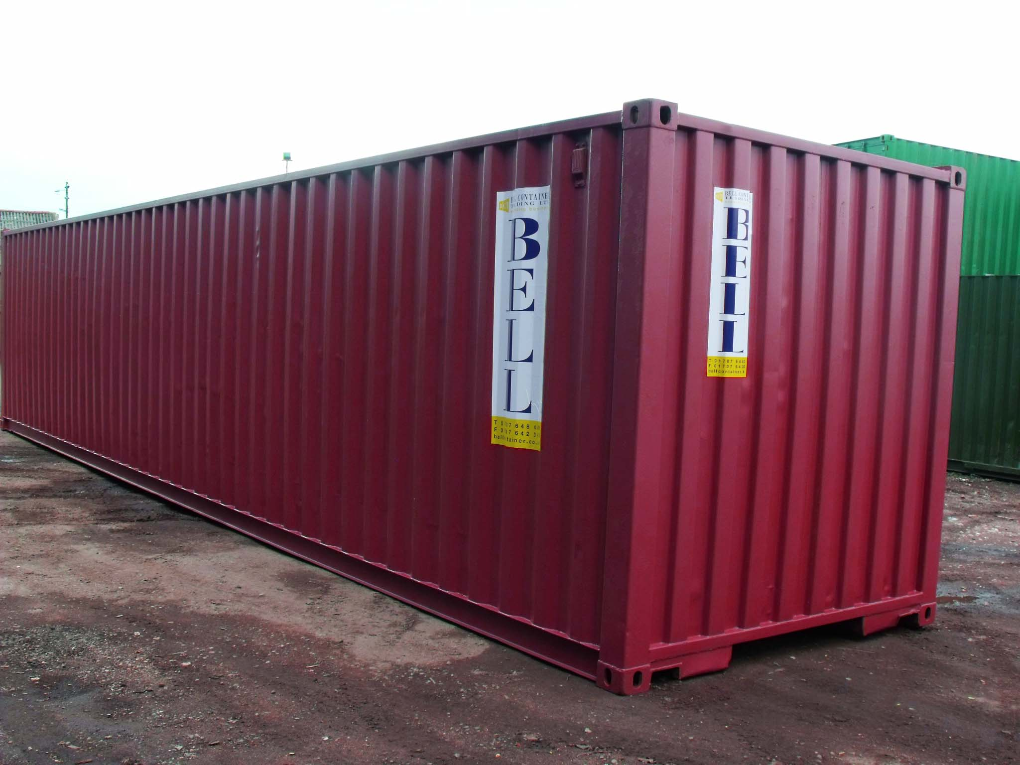 40ft shipping container cherry red colour