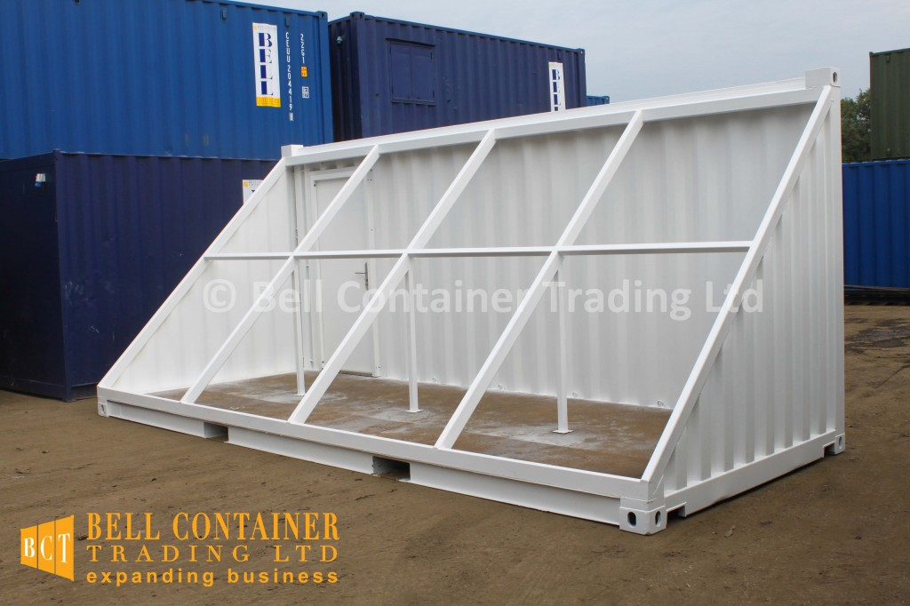 shipping container conversion - white container