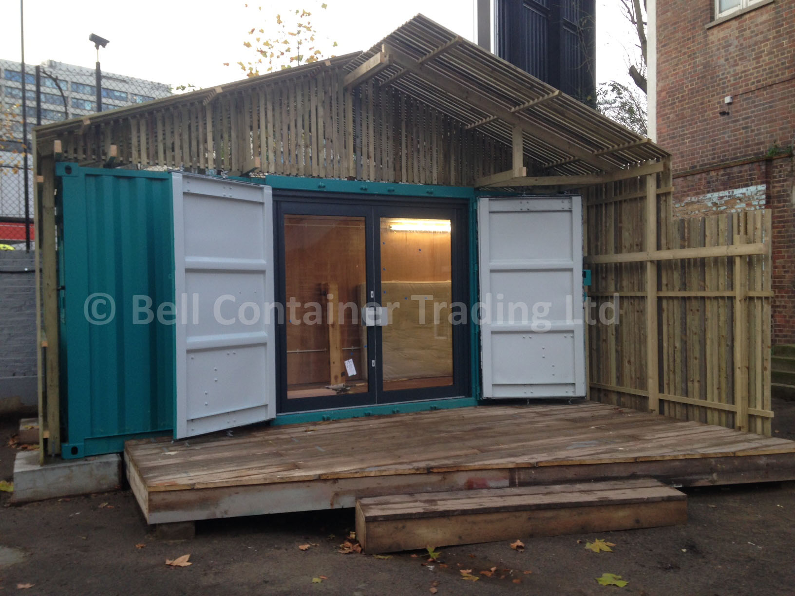 shipping container shop on-site London