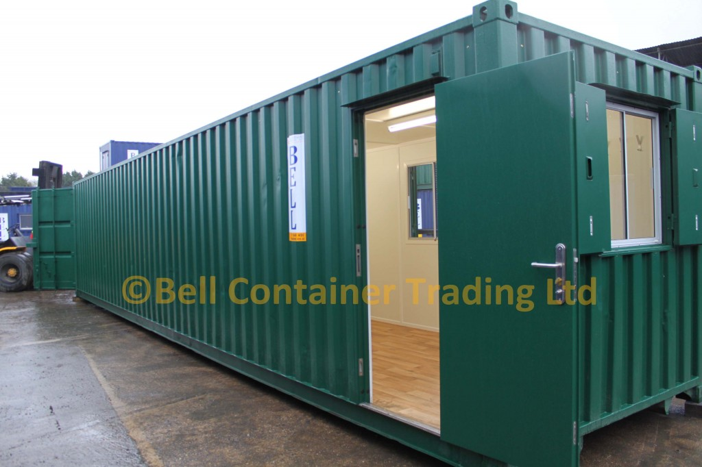 40ft office container - exterior