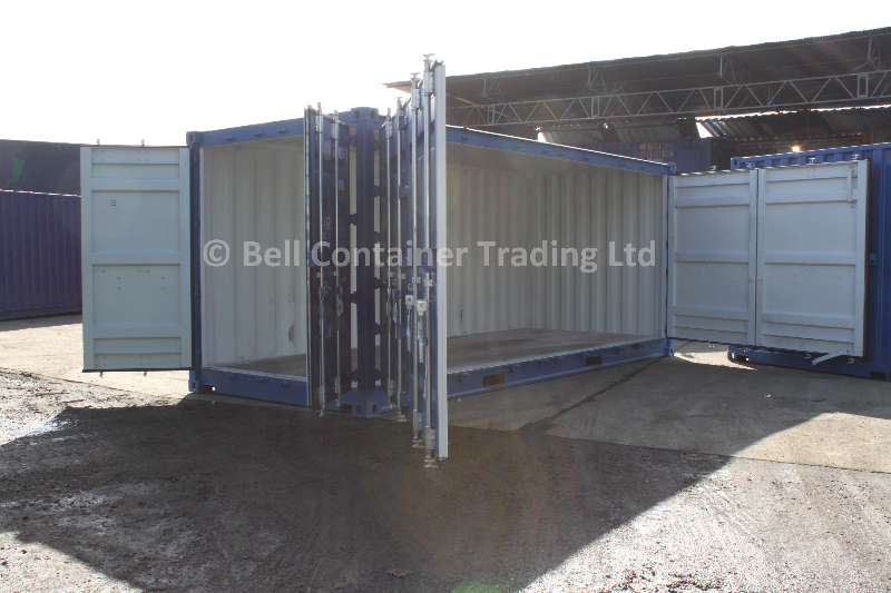 popup container - 20ft side loading unit