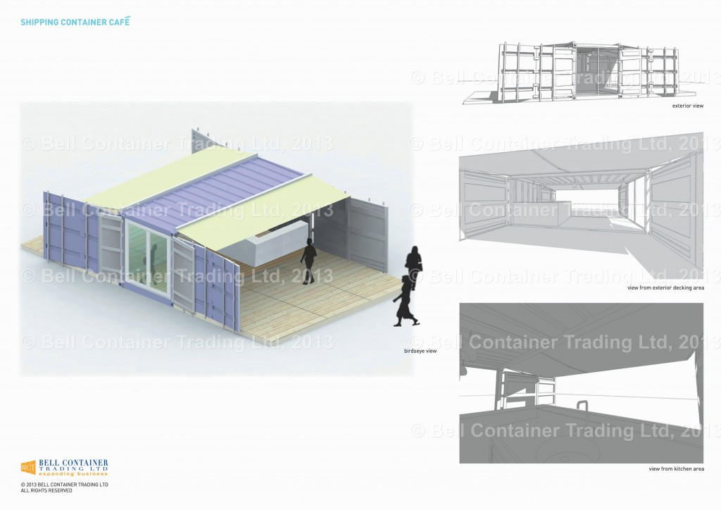 Pop up shipping container cafe