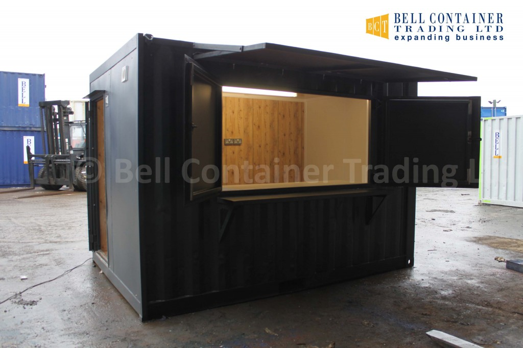 shipping container café and food trailer - popup kiosk