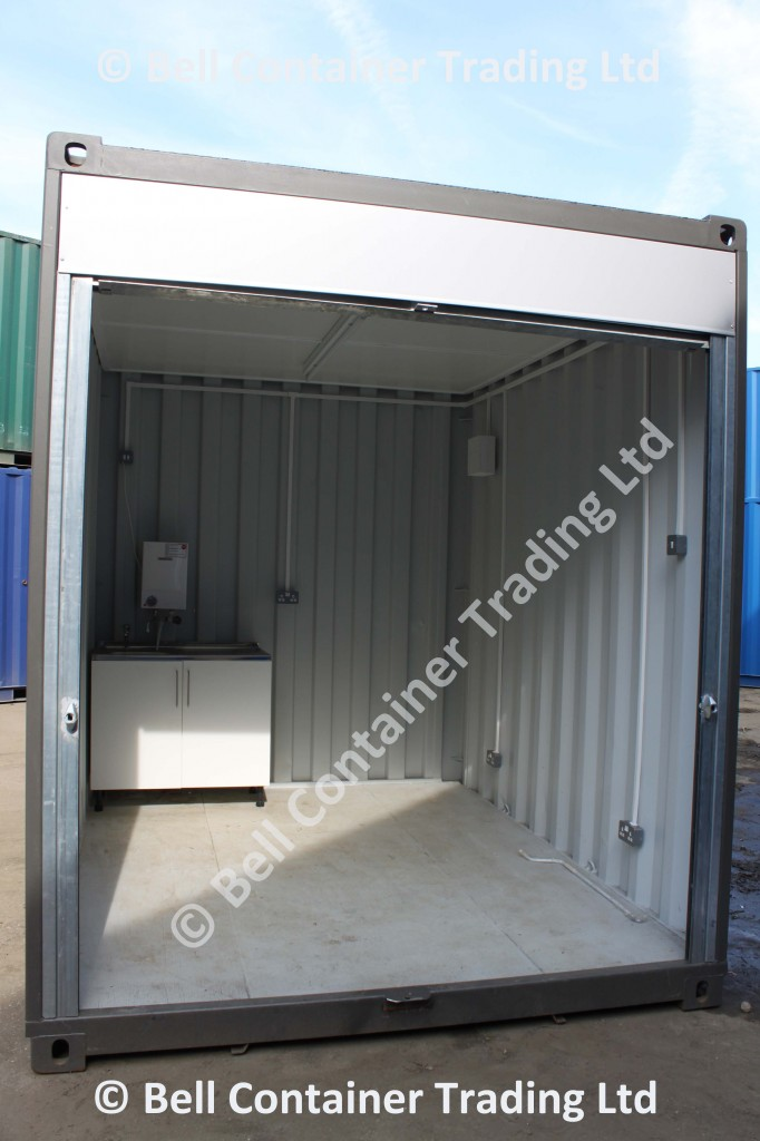 popup container shops - 10ft market stall container interior view