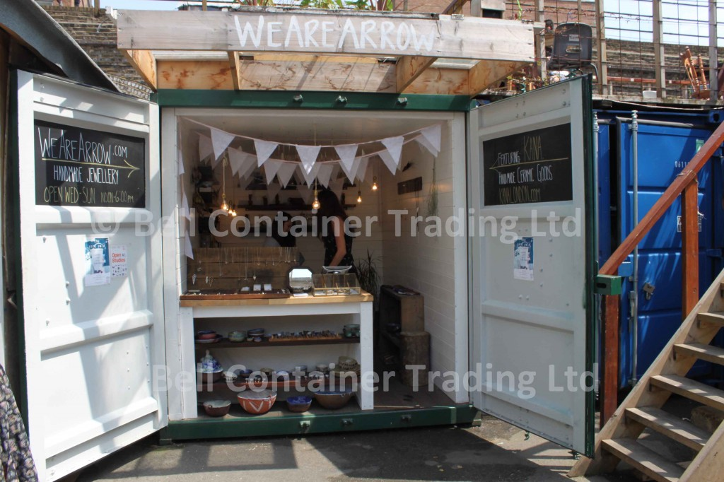 modified shipping container shop