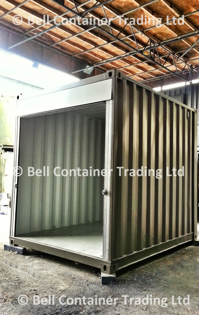 popup shipping container market stall units - roller shutter container