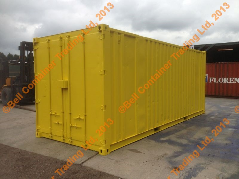 yellow 20ft storage container sold to client