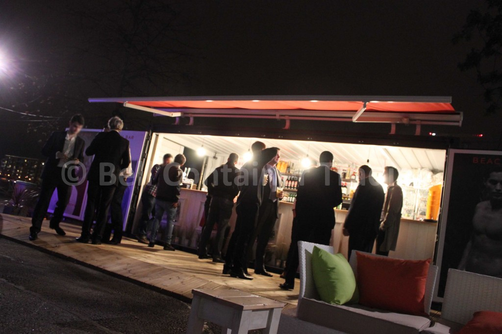 popup shipping container bar