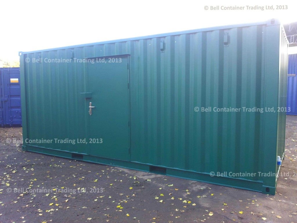 20ft archive storage container (exterior side profile)